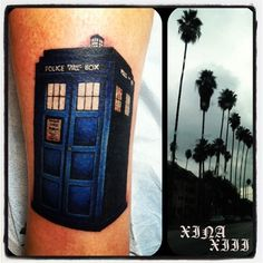 Art & Tattoo Magic by; Christina Hock: Dr. Who TARDIS tattoo