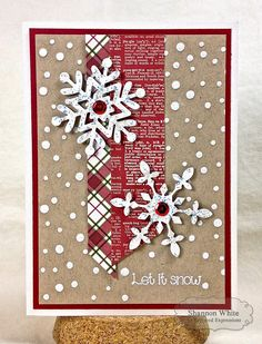 Enchanted Ladybug Creations: Let It Snow - Tailored Expressions Colored Dry Embossing! 8-)