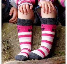 Spotty Otter Pink Socks (2 Matching Pairs) at Wellies and Worms £19.95
