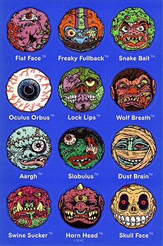 Mad Balls - Madballs Stickers - Late 80s or early 90s by JasonLiebig, via Flickr