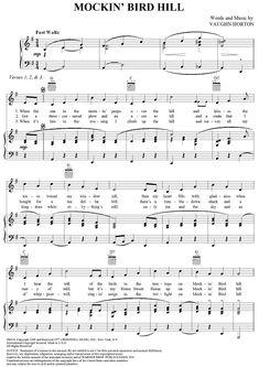 Mockingbird Hill sheet music