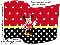 Kit Completo Minnie Vermelha - Com molduras para convites, rótulos para guloseimas, lembrancinhas e imagens!