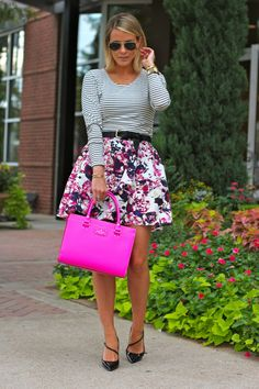 Skirt: ℅ Express; Top: Lovers + Friends; Belt: Vintage find (Shop black belts HERE); Heels: SJP x...