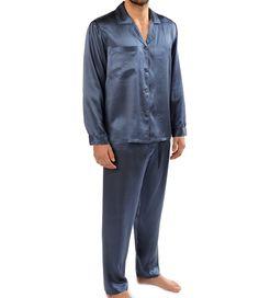 Majestic zijden pyjama Cypress. Een prachtige satijnzijden pyjama (100% zijde). De pyjama biedt raffinement en mannelijkheid tegelijkertijd. Deze comfortabele, matglanzen