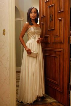 kerry washington (olivia pope) in jean fares couture. elegant, poised, a timeless beauty.