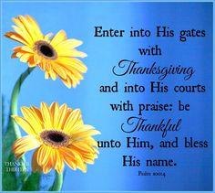 Psalm 100:4 KJV
