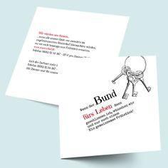 Einleger - Einzelkarten: Schlüssel zum Glück Hochzeitskarten online selbst gestalten und designen