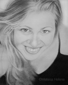 Elizabeth | Melissa Helene 8x10 graphite portrait www.melissahelene.com
