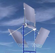 Sri Lankan inventor Leelananda Jayasuriya just sent us this concept for a Lateral Axis Wind Turbine. The turbine functions just like a Ferris Wheel, with the blades orbiting in
