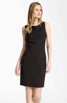 BOSS Black Asymmetrical Neck Sheath Dress | Nordstrom