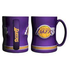 Boelter Brands NBA Lakers Sculpted Coffee Mug - Violet (14 Oz.)