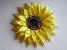 D.I.Y. Satin Zinnia Flower - Tutorial - YouTube