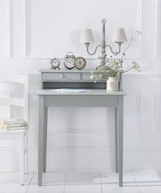 An elegant piece of furniture which can be painted in one of twenty carefully chosen shades to suit your interior colour scheme. This small, but beautiful two drawer secretaire is a versatile piece, useful as a small desk or dressing table, its dimensions make it easy to find a place for it, even in the smallest bedroom, or hallway.