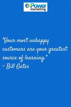 #Marketing #Quotes Bill Gates customer satisfaction