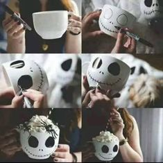 Totally making these Nightmare before Christmas mugs for Halloween! Totally making these Nightmare before Christmas mugs for Halloween! Theme Halloween, Halloween 2016, Holidays Halloween, Halloween Crafts, Holiday Crafts, Holiday Fun, Happy Halloween, Halloween Decorations, Halloween Pictures