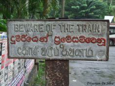 Warnign SIgn- Kadugannawa