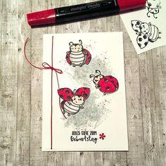 Polka Dot Walls, Karten Diy, Dandelion Wish, Stampinup, Stamping Up Cards, Love Bugs, Birthday Cards, Christmas Cards, Card Making
