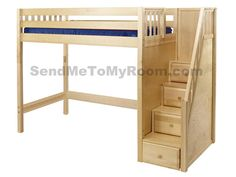 Star Twin High Loft Bed with Staircase $1,532.00
