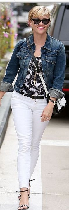 Love white pants as long as they are not too thin and see through. This outfit I…