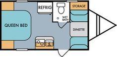 2016 Riverside RV Whitewater Retro 177 Travel Trailer Floorplan