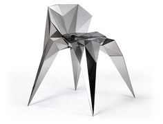 Made of interconnected triangles of metal, Chinese designer Zhang Zhoujie's Triangulation series 'pays respect to the logic of mathematics and the law of digital environment' and blends traditional Chinese art concepts with Western design methods.