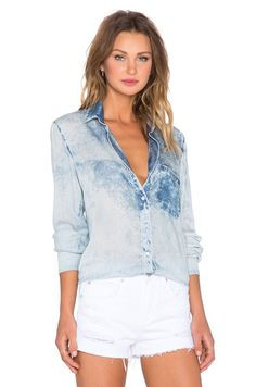 Bella Dahl Perfect Shirt in Ocean Spray Wash