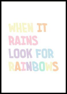 Look for Rainbows Poster