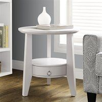 I 249 23-in Round Single Drawer Accent Table
