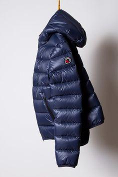 piumino night blue, light down jacket Goose Feel