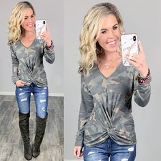 Affordable Stylish Camo Top Comfy and Easy for staying home or going out! #streetstyle #cozy #casualstyle #ootdfashion #style #ootd #fallfashion #flannel #blogger #travel #vacationstyle #fashionlover #fashionblogger #summerstyle #boutiquefashion #womensfashionoutfit #falloutfit #dress #layeringdress #casualstyle #casualfashion #joggers #comfyoutfit #kimono #springfashion #homefashion #summervibes #womensfashion #onlineshopping #onlineboutique Ootd Fashion, Fashion Boutique, Spring Fashion, Autumn Fashion, Camo Top, Vacation Style, Comfy Casual, Camo Print, Affordable Fashion