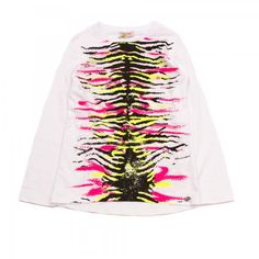 So twee by Miss grant T-shirt manica lunga con stampa fluo