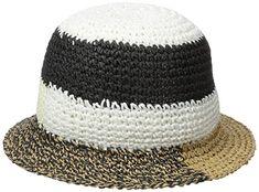f098784e76c75 BCBGMAXAZRIA Women s Patched Crochet Bucket Hat Review