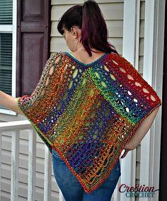 Unique Lace Poncho By Lorene Haythorn Eppolite - Free Crochet Pattern - (ravelry)
