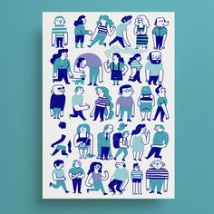 Screen printing illustration behance 67 Ideas for 2019 Family Illustration, People Illustration, Illustration Art, Posca, Silk Screen Printing, Graphic Design Inspiration, Graphic Prints, Printmaking, Branding