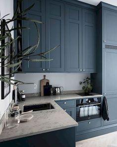 Small but stylish studio apartment - Kitchen - Apartment Home Decor Kitchen, Home Kitchens, Small Kitchens, Diy Kitchen, Kitchen Ideas, Kitchen Small, Kitchen Storage, Stylish Kitchen, Dark Kitchens