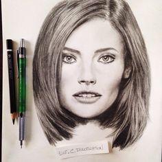 Portrait, dessin Elle.C Illustration