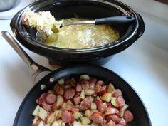 Norwegian Cabbage and Skillet Red Potato and Kielbasa