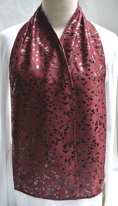 Burgundy Dot Cravaat - DinerWear dining scarf as adult bib