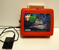 Ghostbusters lunch box guitar amp