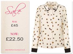 Fun scattered jewel print add a touch of class to this Bessy Shirt   #sale #feathersboutique #liverpool #love #fashion #fashionista #style #stylist #clothes #clothing #ootd #fbloggers #bbloggers #bloggers #blogging #blog #picoftheday #photooftheday #outfit #darling #blouse #shirt