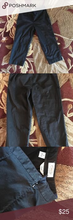 Talbots black stretch capris Talbots Petites stretch black capris. Size medium.  Smoke free and Pet free home.  Thanks for checking out my closet and let me know if you have any questions!  15% off 2 or more items when you bundle! Talbots Pants Capris