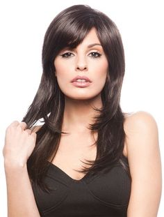 Faddish Synthetic Lace Front Wavy Long Wigs CSAD0040