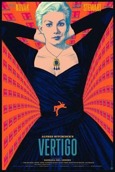 1958 - Vertigo - Movie by Alfred Hitchcock Alfred Hitchcock, Hitchcock Film, Vertigo Poster, Vertigo Movie, Star Crossed, Cinema Posters, Film Posters, Art Posters, Gravure Illustration