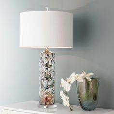 Glass Butterfly Table Lamp
