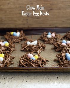 Are you ready for Easter? These Easter Egg chow mein nests will look adorable and taste delicious as part of your Easter celebration! #lmldfood