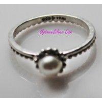 Silpada Artisan Jewelry White Pearl Belle Fleur 925 Sterling Si..