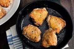 Perfect Pan-Roasted Chicken Thighs / photo by Charles Masters