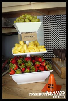 Construction Themed Birthday Party Food Fruit Ideas