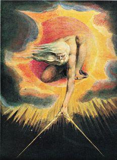 Ilustración: El anciano de los días (1794), grabado de William Blake