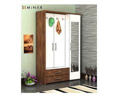 Minar Design - Mobile d'ingresso in melaminico con scarpiera Deniz, 40x120x184 cm